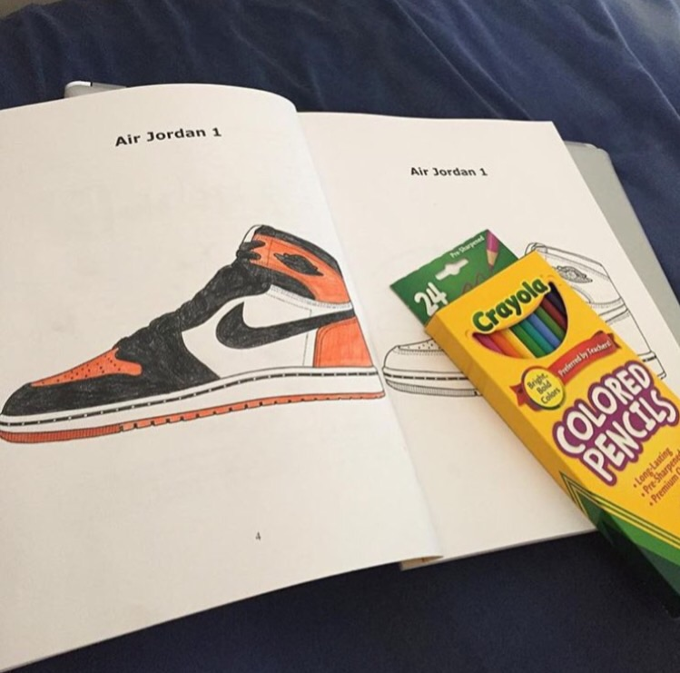 graphic about Sneaker Coloring Page Printable called Jordan/Sneaker Coloring Publications