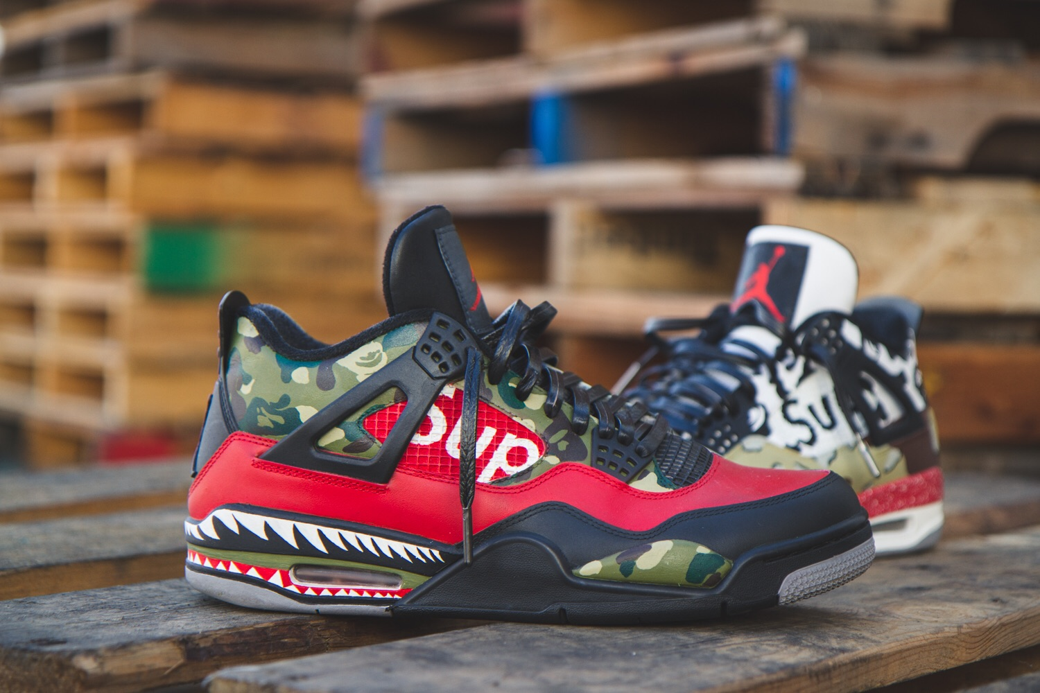 BAPE X SUPREME Easy To Use Stencils Customize Shoes