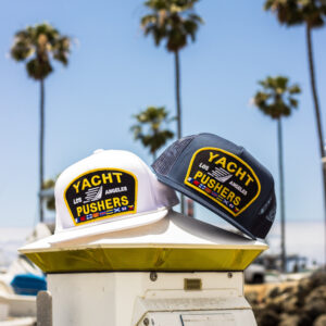 "The ""Yacht Pushers"" Nautical Trucker Snapback Hat"