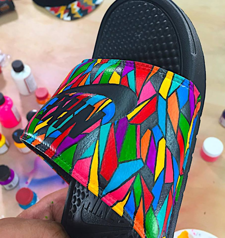 633e8345e2b2 Custom Summer Slides by Feelgood Threads - Be Pool Party Ready!