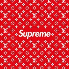 LV x Supreme Box Logo Stencil Set