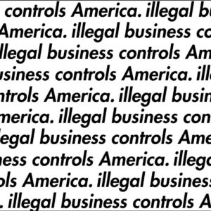 "Supreme ""Illegal Business Controls America"" Stencil Set"